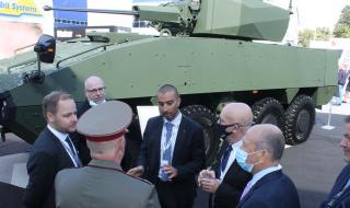 Бойна машина Patria AMVXP 8x8 с обитаем купол Elbit 30 мм на изложението ХЕМУС 2020