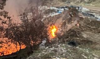 Запалиха костинбродското сметище с незаконния италиански боклук