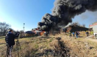 Два пожара избухнаха едновременно в Хасково ВИДЕО
