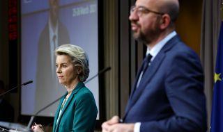 Първа среща на Фон дер Лайен и Мишел след срещата в Турция