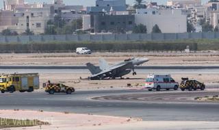 Американски изтребител кацна аварийно в Бахрейн (ВИДЕО)