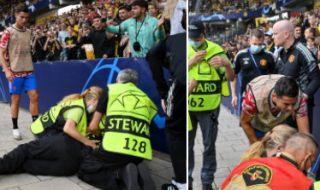 Роналдо удари с топката жена и тя падна на земята (ВИДЕО) - 1