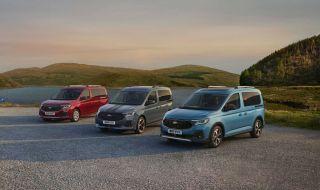 Новият Ford Tourneo дебютира с огромна решетка и множество прилики с VW Caddy - 1