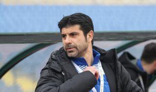 Гонзо чел конско на играчите на Локо Пловдив след победата над Беласица