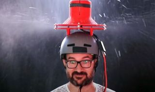 Експеримент - вентилатор вместо чадър (ВИДЕО) - 1