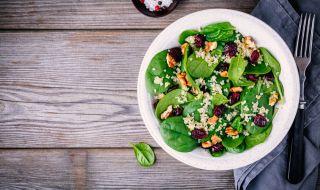 Рецепта за вечеря: Спаначена салата