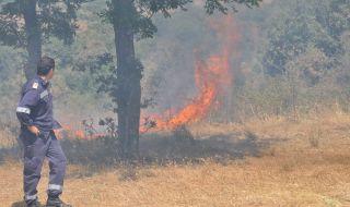 Продължава гасенето на големия горски пожар в Сакар