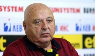 Венци Стефанов: Няма да изпаднем и няма да спасявам Славия по административен път
