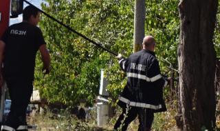 Пожарникар пострада при потушаване на пламъци край жп линия в Русенско