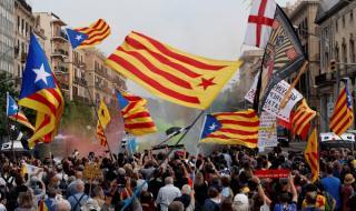 Протести за испанския крал в Каталуния