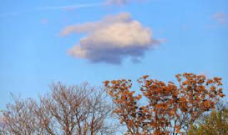 Слънчев ден с разкъсана облачност