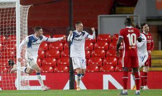 Аталанта обезличи и победи Ливърпул на ''Анфийлд''