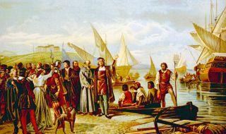 3 август 1492 г. Колумб потегля на запад към Индия... - 1