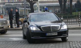 Лек инцидент с кола на НСО в София