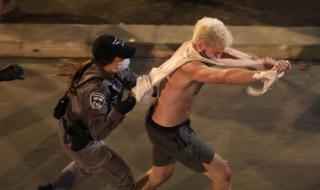 Задържаха протестиращи пред резиденцията на Нетаняху