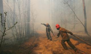 Десети ден бушува голям пожар край Чернобил