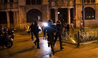 Сблъсъци между демонстранти и полицаи в Барселона