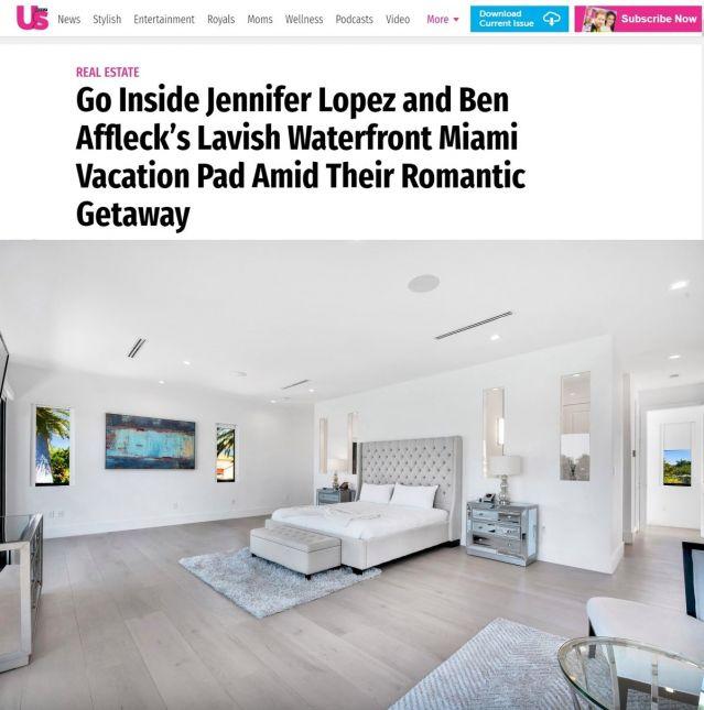 Вижте каква къща наеха Джей Ло и Бен Афлек в Маями