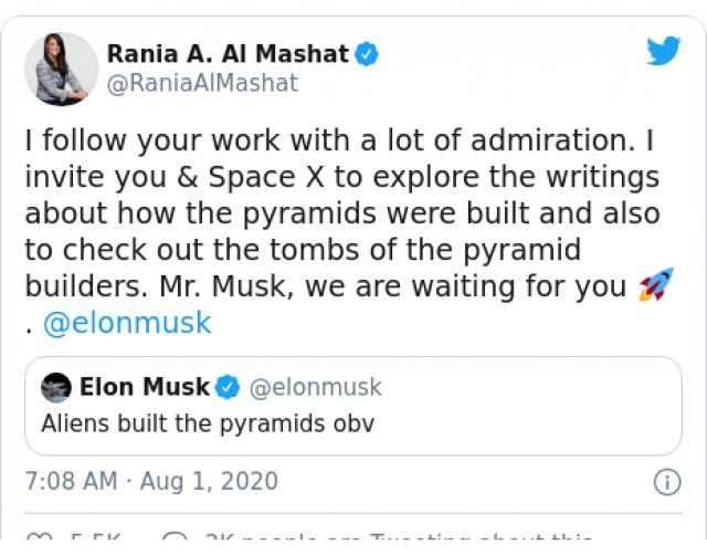 Египет кани Мъск да види, че пирамидите не са построени от извънземни