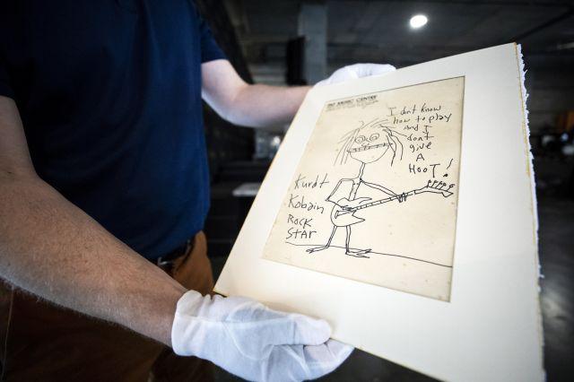Продадоха автопортрет на Кърт Кобейн за 1 хил.