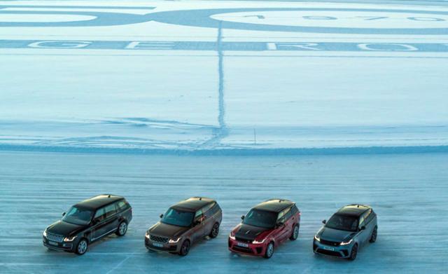 Антъни Джошуа и специалната снежна инсталация на Range Rover