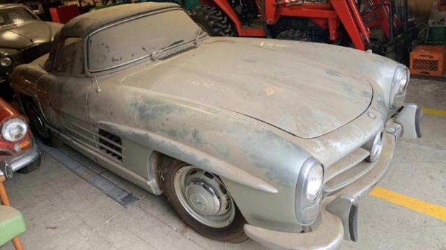 Неочаквано наследство от <p> млн: 44-годишен Mercedes, забравен в гараж