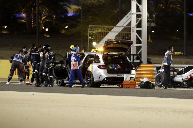 Жестоката катастрофа прекрати надпреварата за Гран При на Бахрейн във Формула 1