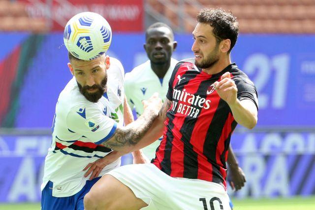 Грешна стъпка за Милан срещу Сампдория