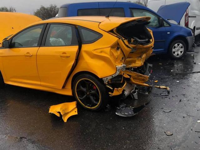 Полицай предизвикал верижната катастрофа на изхода на София
