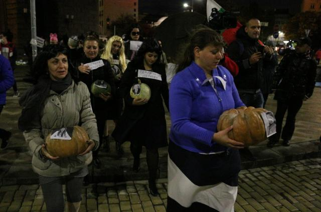 Тикви на 115-ия ден на протестите (СНИМКИ)
