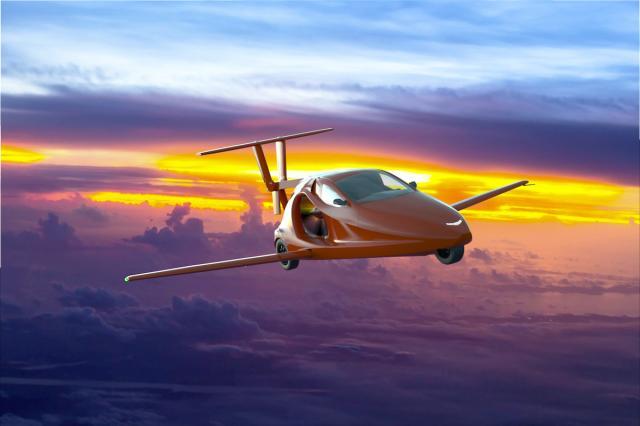Летяща кола ускори до 140 км/ч