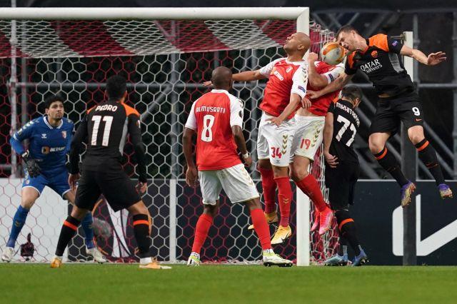 Рома взе комфортен аванс срещу Брага
