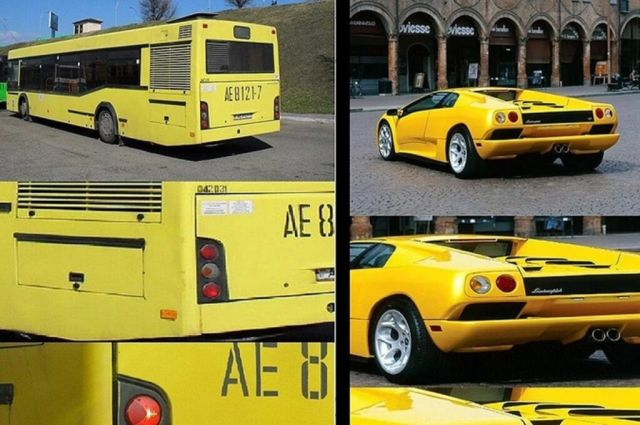Знаете ли кое е общото между автобус МАЗ и Lamborghini Diablo?