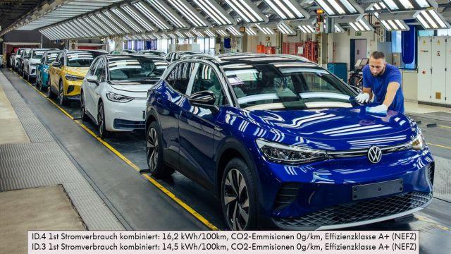 Volkswagen ще произвежда по 800 електромобила на ден