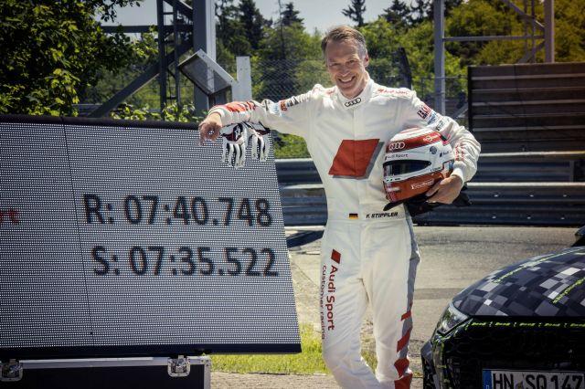 Audi RS3 официално е най-бързата серийна кола от своя клас на Нюрбургринг