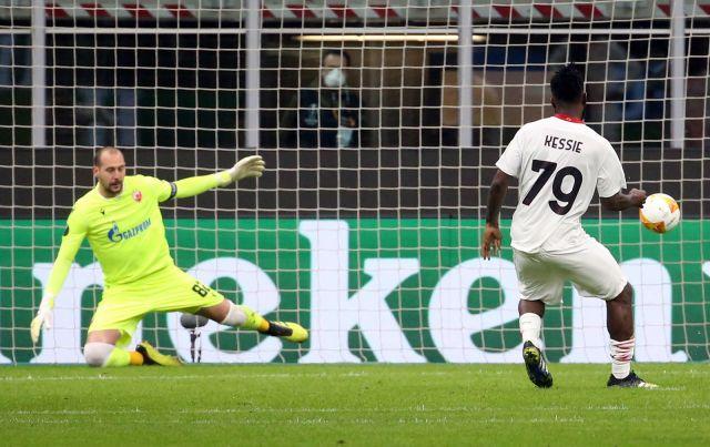 Милан е на 1/8-финалите в Лига Европа след ново равенство срещу 10 от Цървена звезда