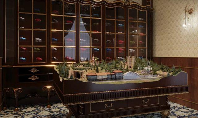 Как изглежда стаята с колекционерски колички в двореца на Путин