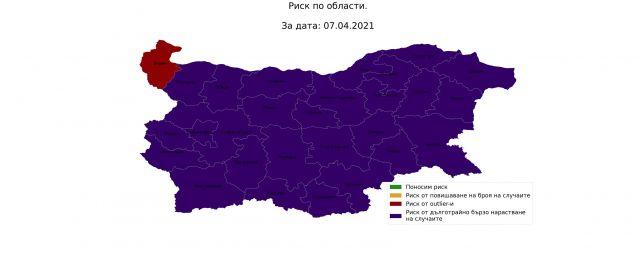 Проф. Витанов показа невиждана COVID карта на България