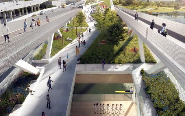 Уникален мостов парк във Вашингон (СНИМКИ)