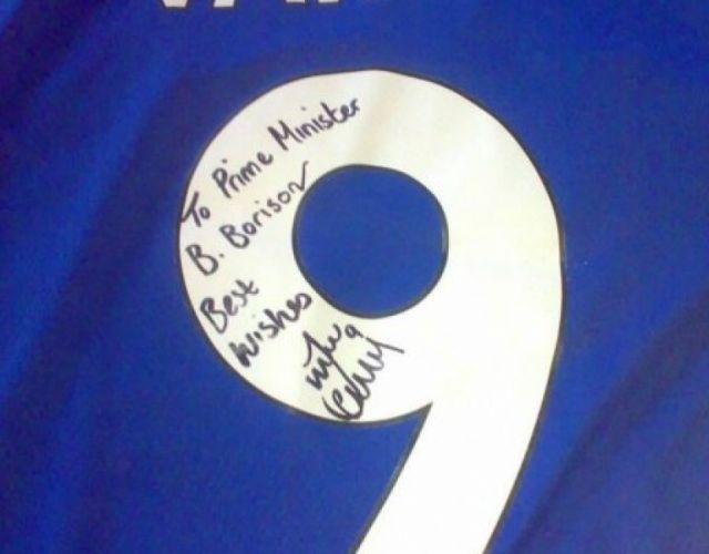 Бойко Борисов получи подарък от английска футболна звезда