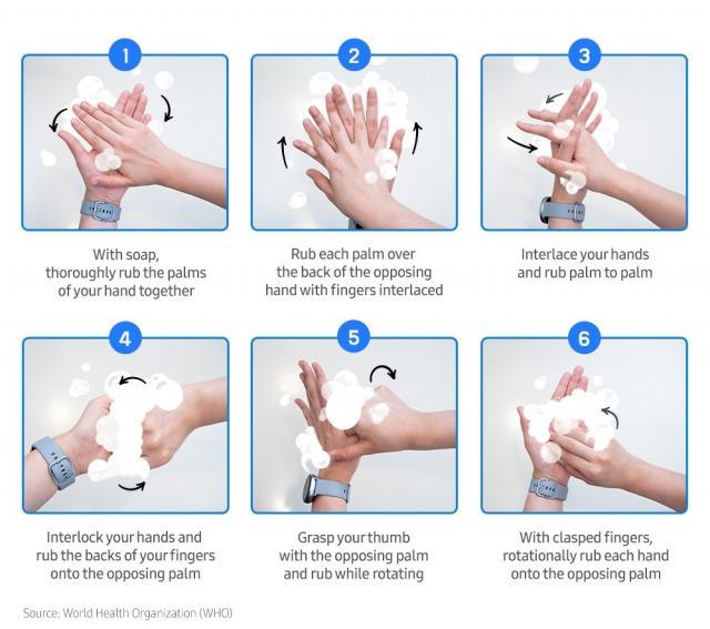 Samsung ни учи как да си мием ръцете
