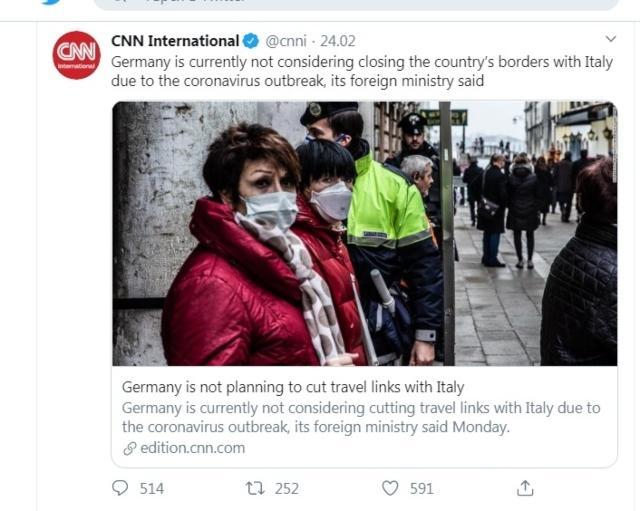 Си Ен Ен счупи тъпомера: Германия има граница с Италия