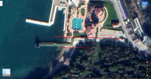 Оградата на Доган сарай е навътре в държавен имот