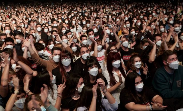Най-мащабното събитие на закрито след началото на пандемията (СНИМКИ)
