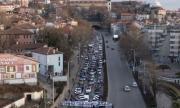 Феновете на Локомотив блокираха Пловдив с автошествие