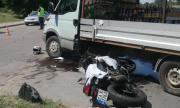 Мотоциклетист пострада при тежка катастрофа в Лом