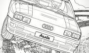 Audi и Mercedes-Benz пуснаха картинки за оцветяване