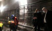 Махат 30 метра релси край метростанция