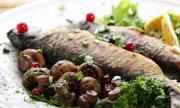 Рецепта за вечеря: Пъстърва с печурки и масло