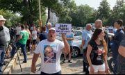 """Бойко Борисов е на разпит в """"Национална полиция"""", отвън – протест в негова защита (ВИДЕО)"""